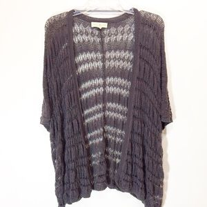 UO | Staring At Stars Gray Open Knit Cardigan